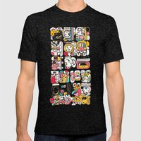 The Mayan Message Mens Fitted Tee Tri-Black SMALL