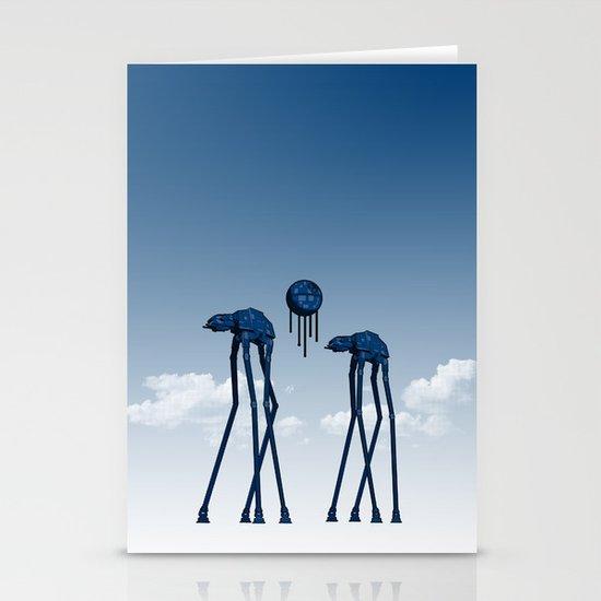 Dali's Mechanical Elephants - Blue Sky Stationery Card