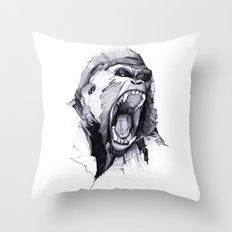 Wild Rage Throw Pillow