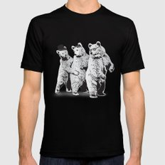 Funky Bears Mens Fitted Tee SMALL Black