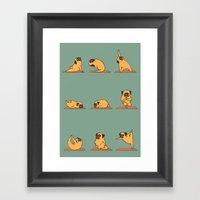 Pug Yoga Framed Art Print