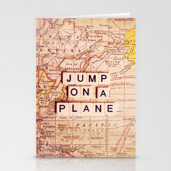 jump on a plane Stationery Card