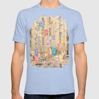 Monster forest Mens Fitted Tee Tri-Blue SMALL