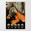 Leroy And The Five Dancing Skulls Of Doom Canvas Print