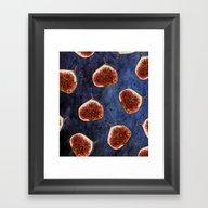 Fig Pattern #society6 #d… Framed Art Print