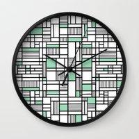 Map Lines Mint Wall Clock