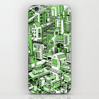 City Machine - Green iPhone & iPod Skin