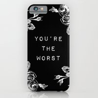iPhone & iPod Case featuring YOU'RE THE WORST by Wesley Bird