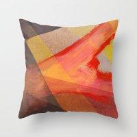 Orange flow Throw Pillow