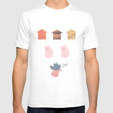Three Second Fairytale Mens Fitted Tee White SMALL