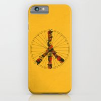 iPhone & iPod Case featuring Peace & Bike (Colors) by Speakerine / Florent Bodart
