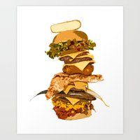 ULTIMATE BURGER Art Print