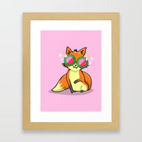 Foxy & Fabulous Framed Art Print