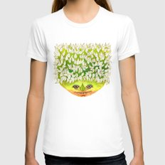 Majestic Leaf Womens Fitted Tee White SMALL