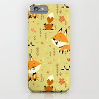 iPhone & iPod Case featuring Foxes in the Spring by Chopsticksroad.