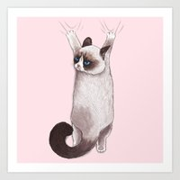 Grumpy Hang Art Print