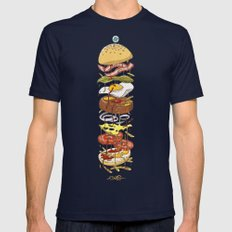 Burger Mens Fitted Tee Navy SMALL
