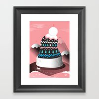 Mount Pom-Pom Framed Art Print