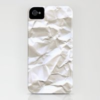 iPhone 4s & iPhone 4 Cases featuring White Trash by pixel404