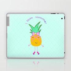 Cute Hipster Pineapple Laptop & iPad Skin