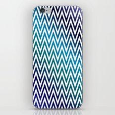 Blue gradient herringbones iPhone & iPod Skin