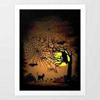 Halloween Night , Happy … Art Print