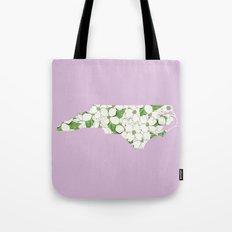 North Carolina in Flowers Tote Bag