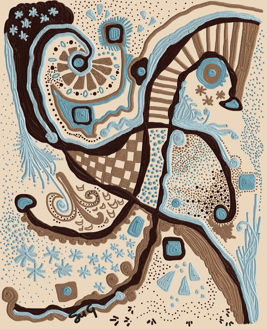 Crowded land  Art Print