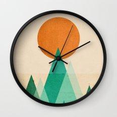 No Mountains High Enough Wall Clock