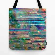 Space Glitch Tote Bag