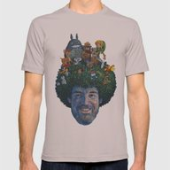 Bob Ross Mens Fitted Tee Cinder SMALL