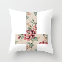 Flower Cross Throw Pillow
