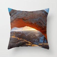 Mesa Arch Sunrise Throw Pillow