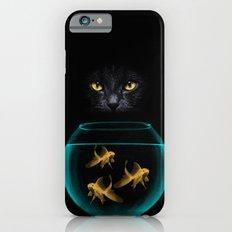 Black Cat Goldfish iPhone 6 Slim Case
