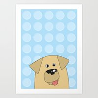 Labrador Yellow Dog Art Print