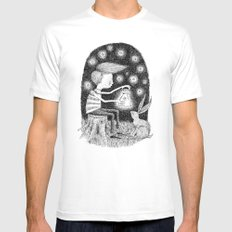 'Lantern' SMALL Mens Fitted Tee White