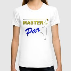 Master of The Par Womens Fitted Tee White SMALL