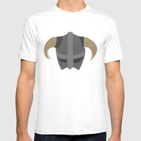 The Saviour of Skyrim Mens Fitted Tee White SMALL