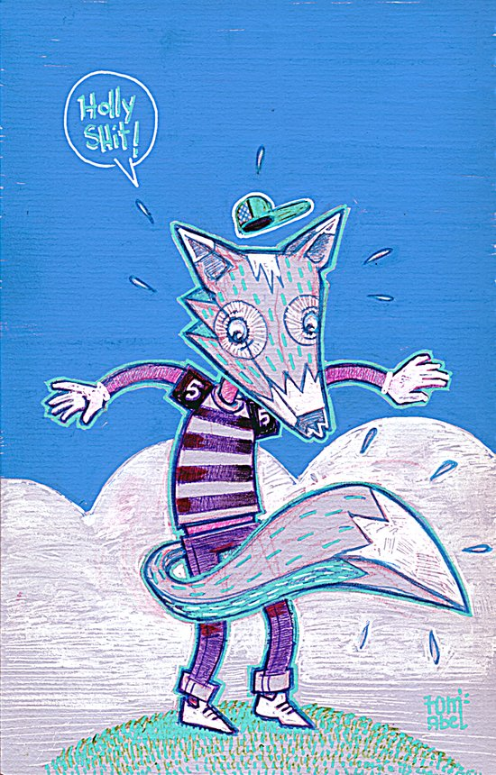 Le renard bleu. Canvas Print