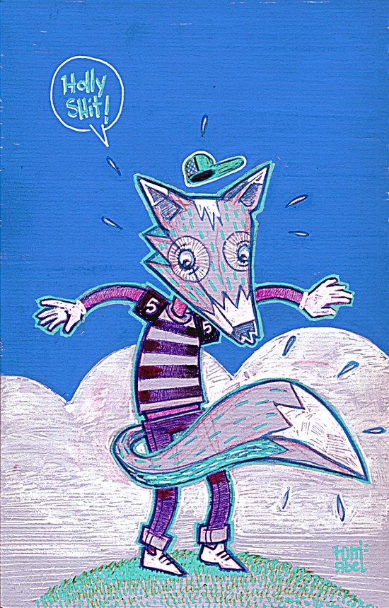 Le renard bleu. Art Print