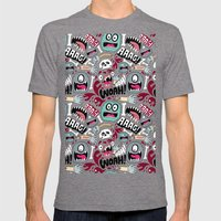 AAAGHHH! PATTERN! Mens Fitted Tee Tri-Grey SMALL