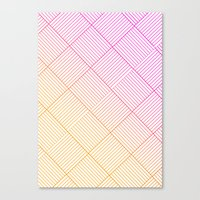 Woven Diamonds In Pink A… Canvas Print