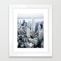 NEW YORK//COLOUR Framed Art Print