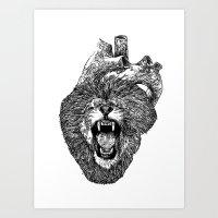 A Lion Heart Roars Art Print