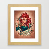 Fate Loves The Fearless Framed Art Print