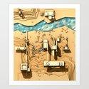 Site Plan [Top FP] Art Print