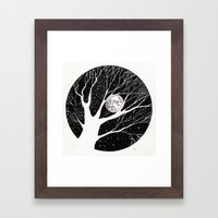 moonlight shadow Framed Art Print