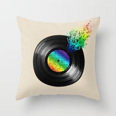BROKEN RECORD Throw Pillow