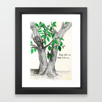 Sway With Me Framed Art Print