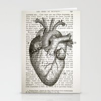 Anatomical Heart On Fren… Stationery Cards